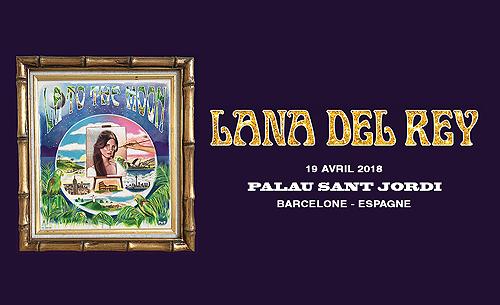 Lana Del Rey sur la scène du Palau Sant Jordi de Barcelone, Espagne. (19.04.2018)