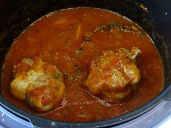 Paupiettes de veau à la sauce tomate aux oignons au Cookéo ou pas