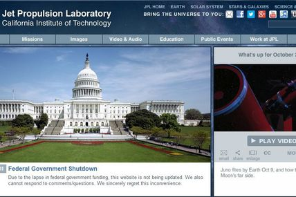 Anniversaire discret pour la NASA : le « shutdown » du gouvernement fédéral américain