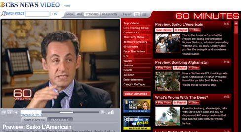 """""""Sarko l'Américain"""" sur CBS (entretien et reportage, émission """"60 minutes"""")"""