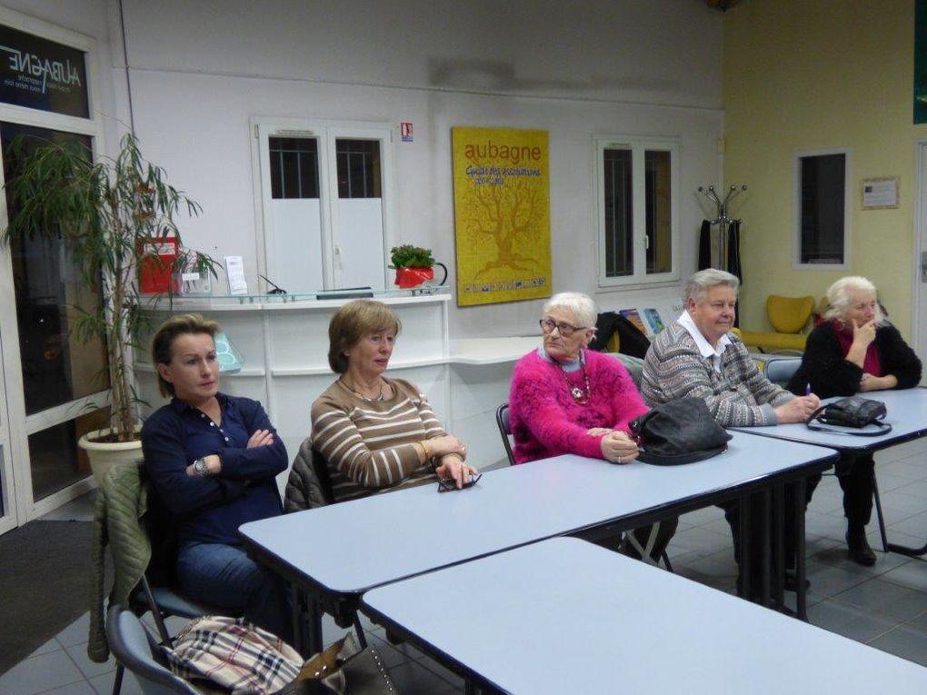 Réunion d'infos et d'amitié avec des invités inter-association le 22 janvier marque deux retours : Patricia et Michel