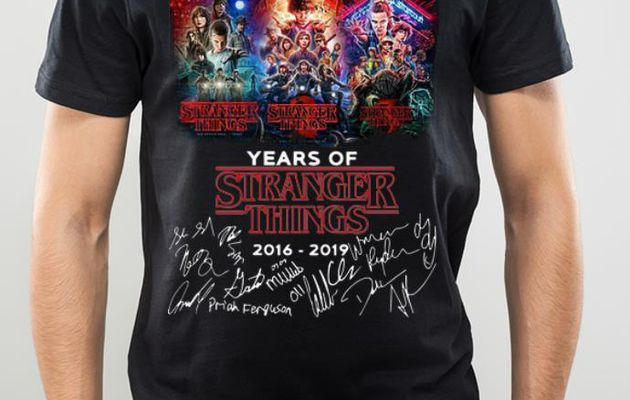 Official 3 Season 3 Years Of Stranger Things 2016-2019 Signatures shirt
