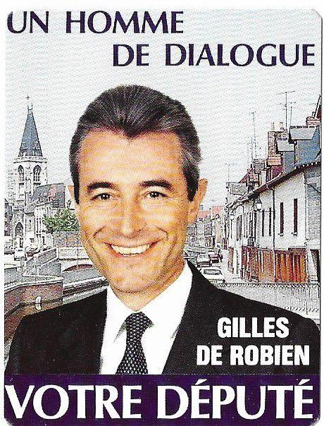 Amiens. Gilles de Robien. Atout coeur. Nov. 1988. © Jean-Louis Crimon