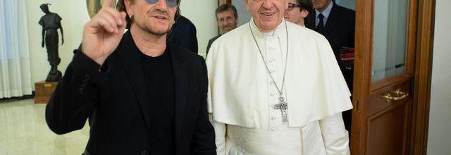 Bono reçu par le pape François - Vatican 19-09-2018