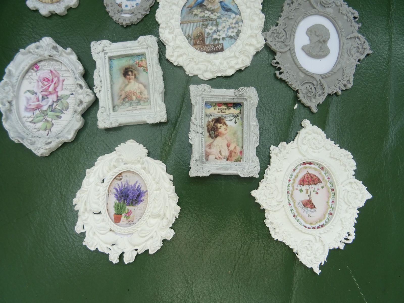serie cadres miniatures thème romantique