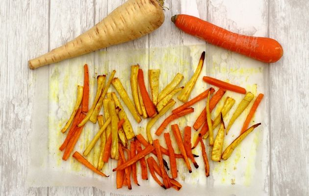 Frites de panais et carottes (au four)