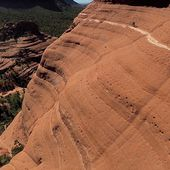 Heart-pounding moment biker risked his life on Sedona red rock cliffs
