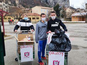 Collectes pour les Restos du Coeur pour les collégiens de Castellane et St André les Alpes
