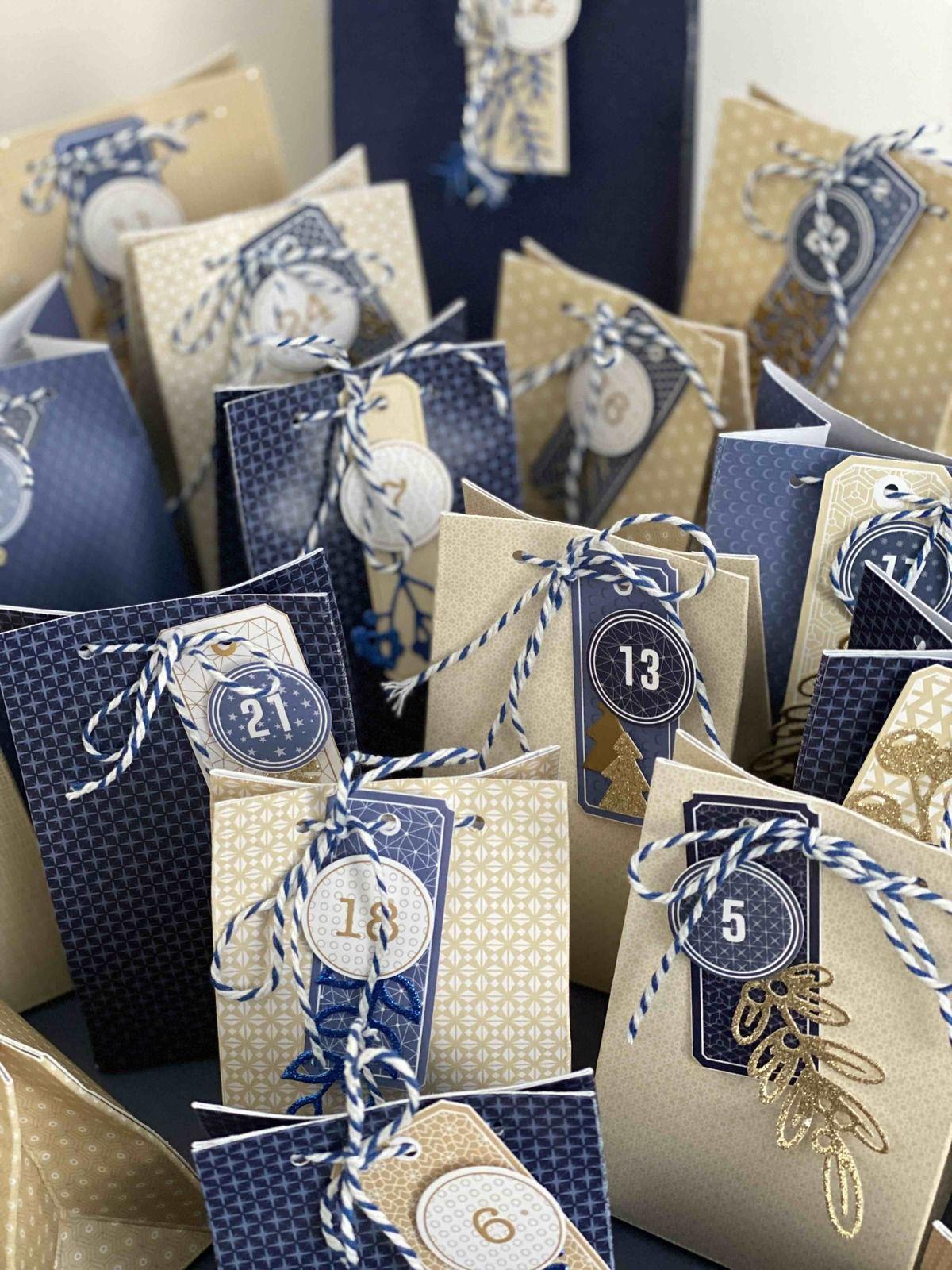 Lydie - calendrier de l'avent bleu & beige