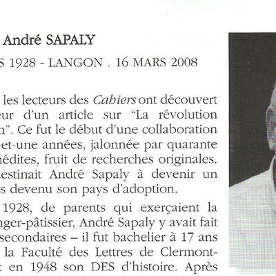 André Sapaly (1928 - 2008)