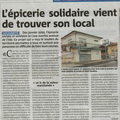 Nouvel Article : merci la Gazette !