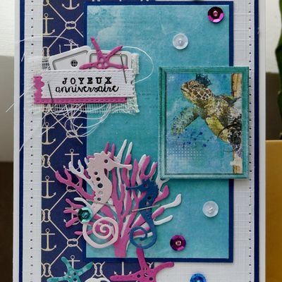 Une carte sous-marine... girly!!!