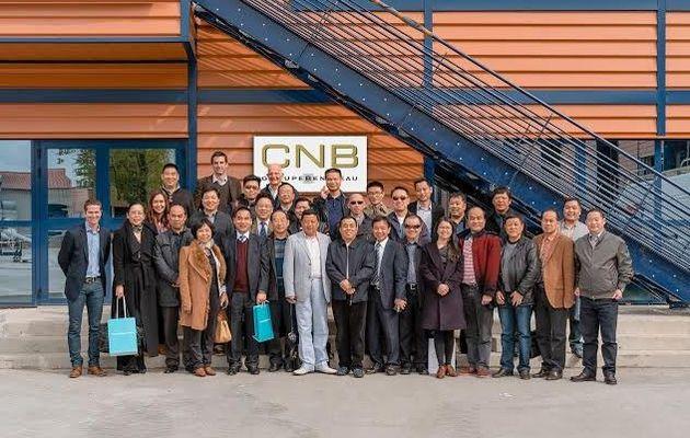 Une délégation d'entrepreneurs chinois en visite au chantier naval CNB-Lagoon (33)