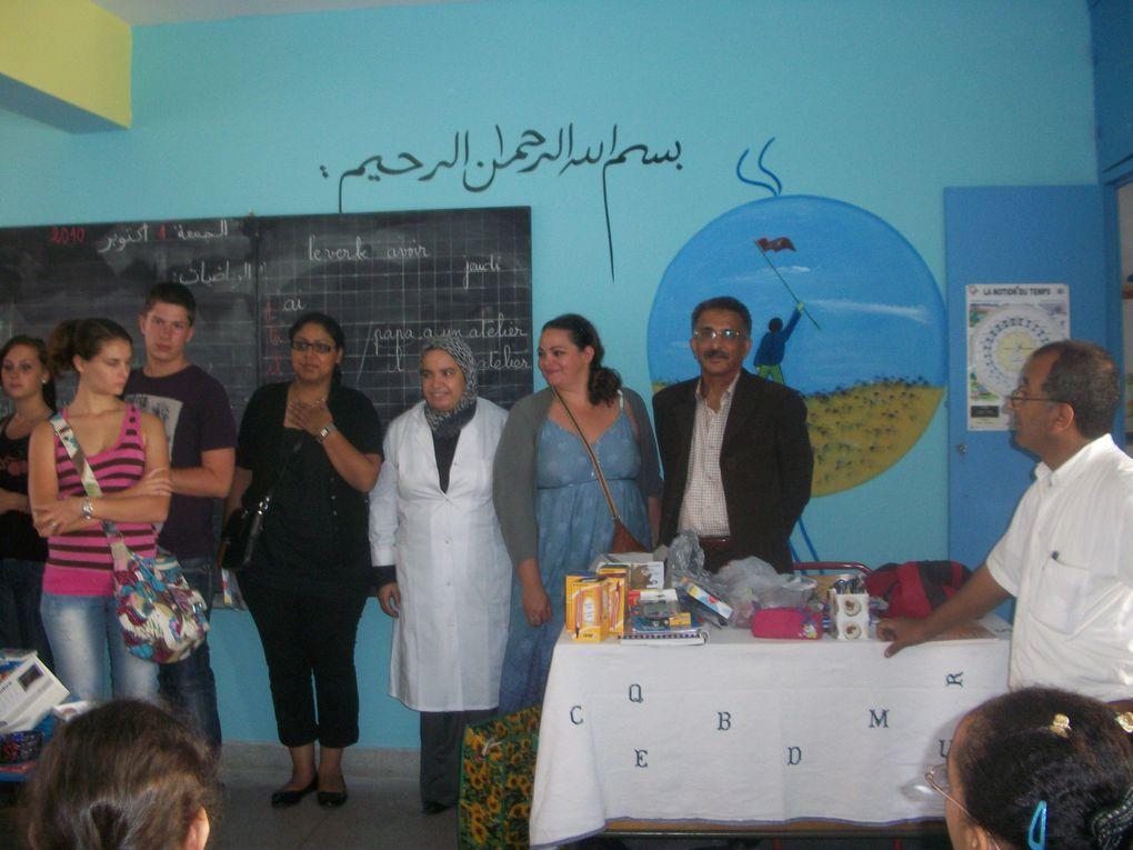 Visite et activitées scolaire d'une coopération étrangère à l'école Abi inane  2010-2011