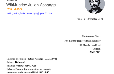 Political Prisoner Julian Paul Assange