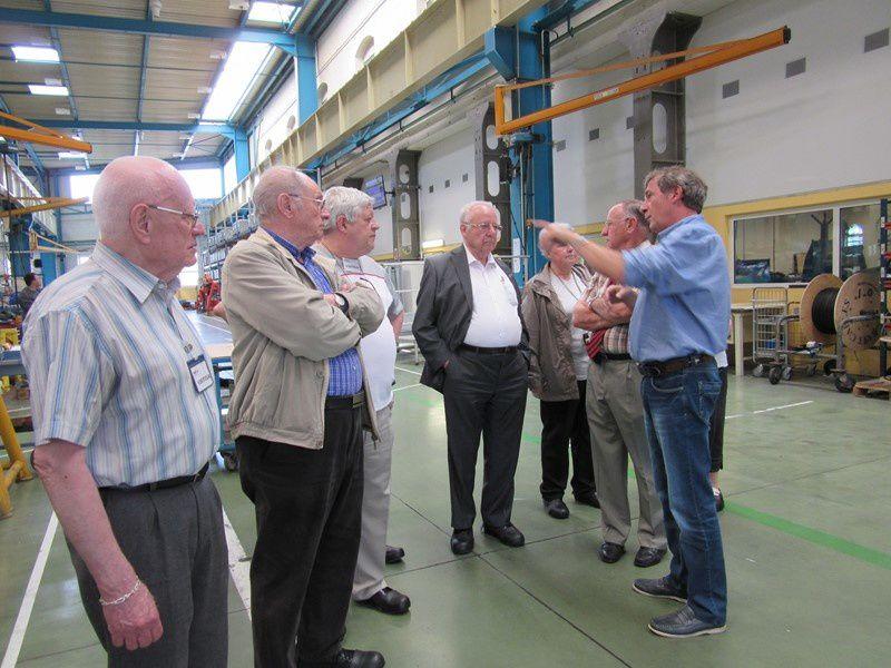 Avec le Génie du Haut-Rhin visite MEA Mulhouse en mai 2015