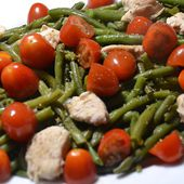 Salade haricots verts poulet tomates cookeo |