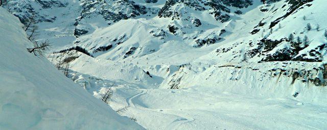 Dal Belvedere di Macugnaga al rifugio Zamboni - Percorso invernale sul ghiacciaio - Reportage fotografico
