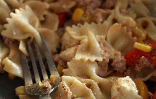 Envie de salade #3 / Salade de pâte au thon et vinaigrette à la sauce de soja