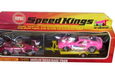AMX JAVELIN COFFRET DRAG RACE PACK MATCHBOX 1/36.