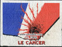 Paul Iribe (1883-1935), «Le cancer», affiche, 1968.