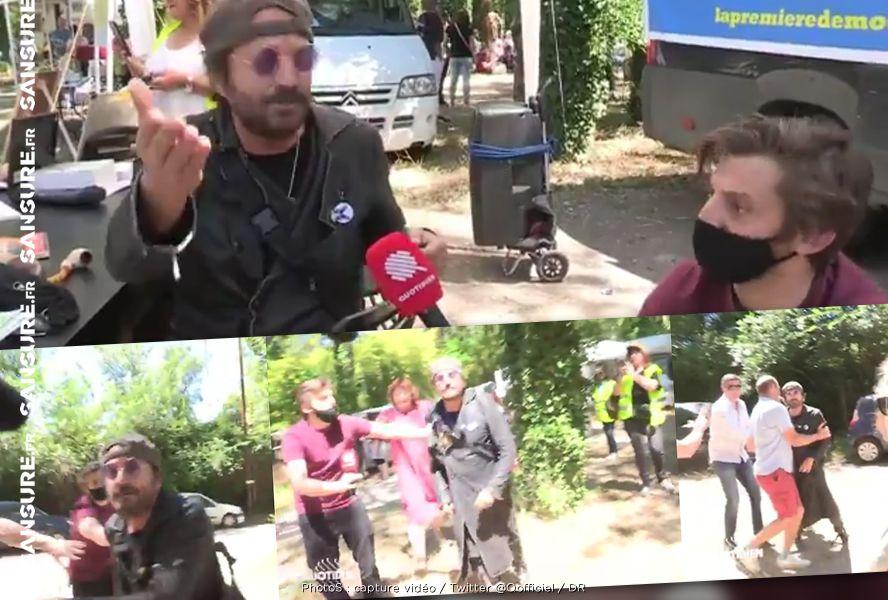 Un caméraman de Quotidien frappé par Francis Lalanne ! (Vidéo) #Quotidien