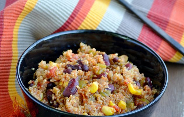 One pot quinoa mexicain (au cookeo ou sans)