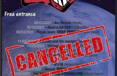 🎵 Rock Classic - Programmation du mois de Mars 2021 - annulé