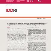 Le traité d'Aix-la-Chapelle de 2019: des opportunités pour renforcer la coopération franco-allemande en matière de développement durable