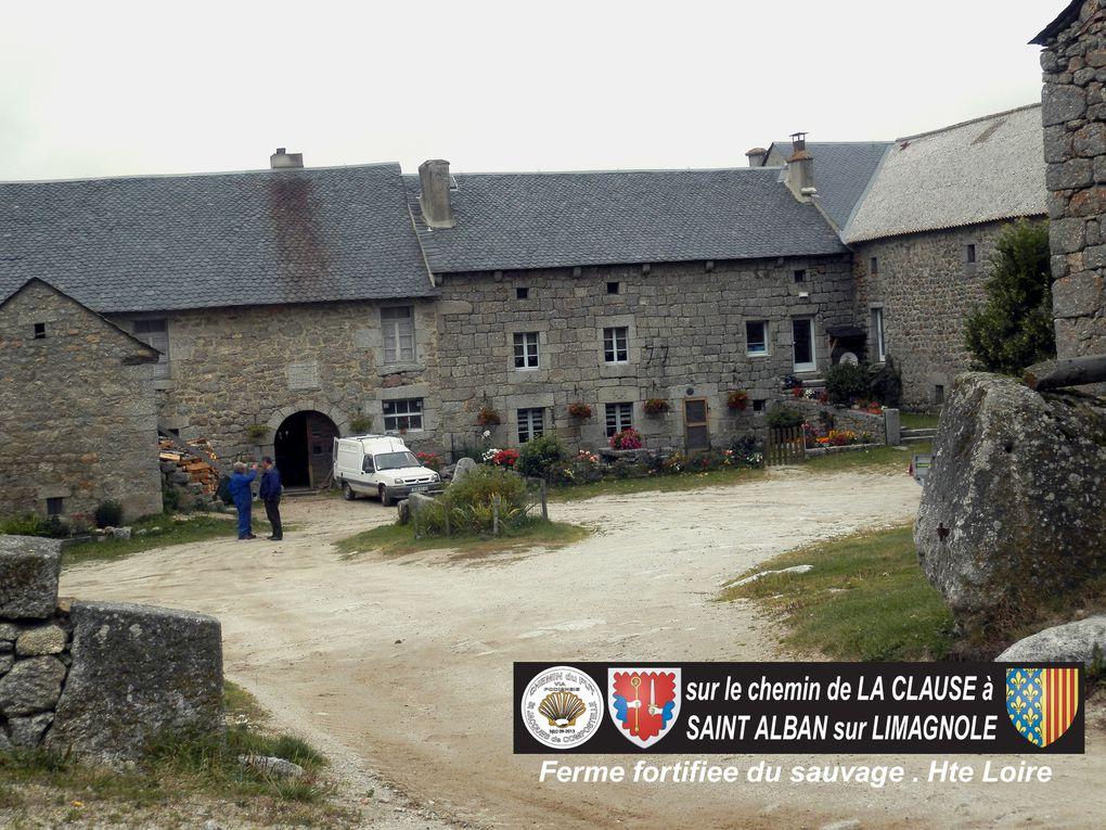 ETAPE 3 - VIA PODIENSIS - chemin de St Jacques - de LA CLAUSE à SAINT ALBAN SUR LIMAGNOLE  - 26 Km