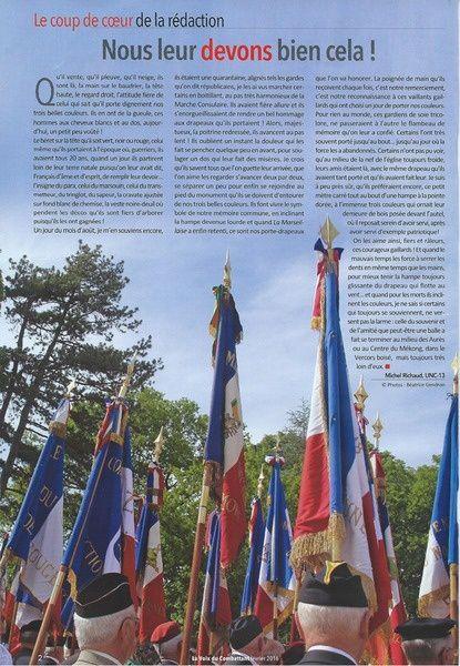 Hommage aux porte-drapeaux