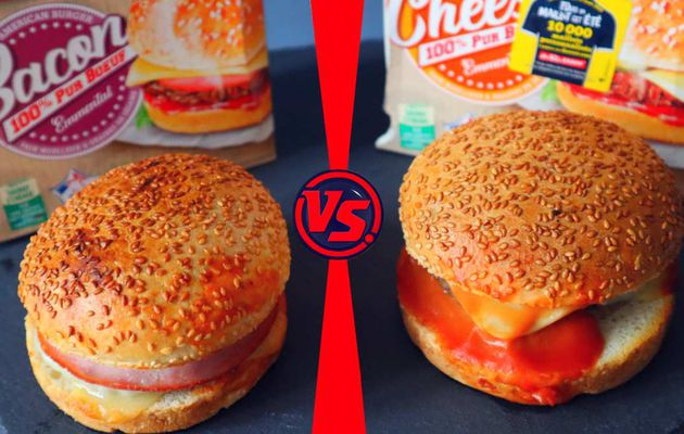 DÉGUSTATION DAUNAT - L'AMERICAN BACON BURGER VS L'AMERICAN CHEESE BURGER