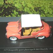 FASCICULE N°7 4CV DECAPOTABLE 4 PLACES TYPE R1062 1961 ELIGOR 1/43 - car-collector.net