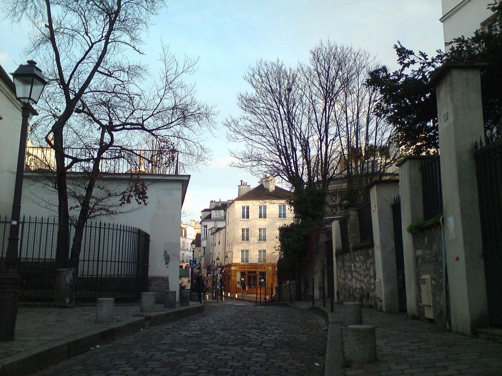 Balade à Montmartre fin janvier
