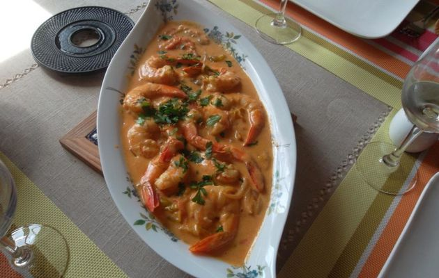 Curry Gambas-Mirabelle