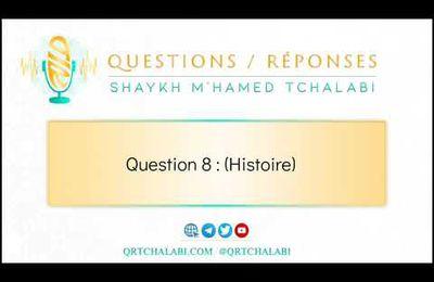Question8(correction): Lorsqu'il mourut le trône du miséricordieux a tremblé.Qui est cette personne?