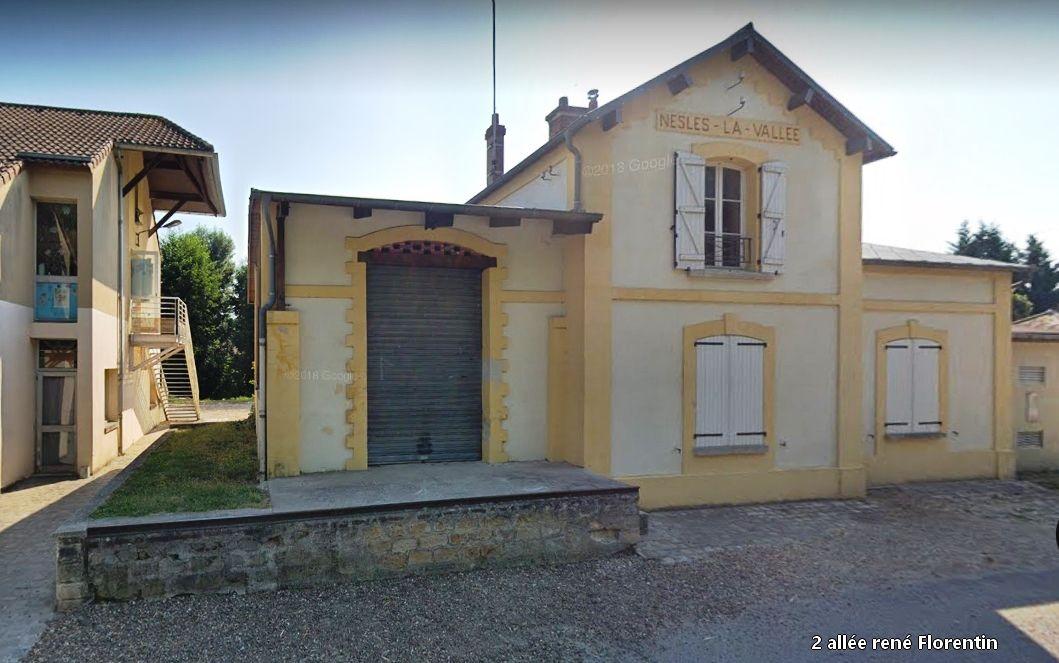 Gare de Nesles la vallée (95) les vestiges d'aujourd'hui