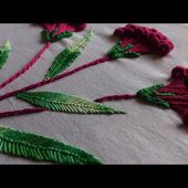 Hand embroidery./Embroidery stitches tutorial/Brazilian embroidery.