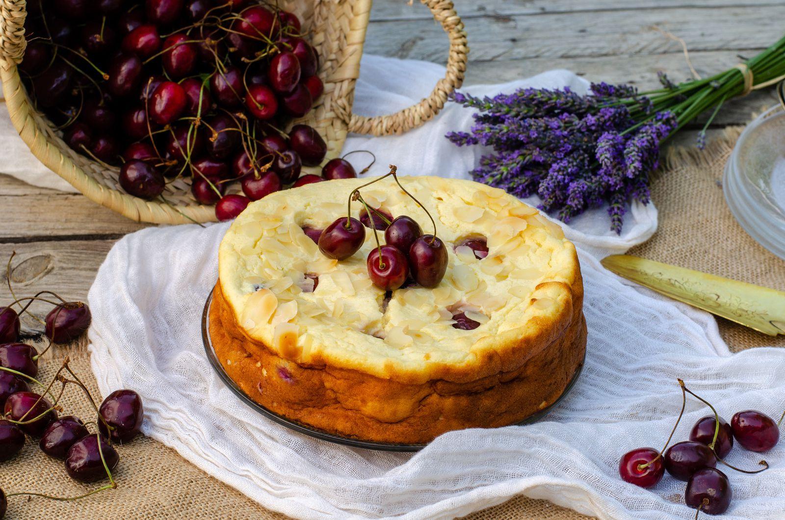 Gâteau fromage blanc cerises