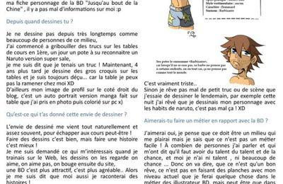 Interview Katone dans Destination BD N°4