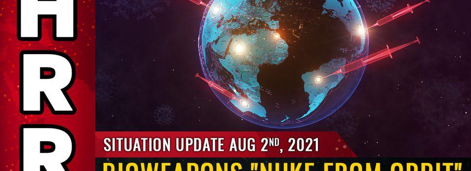 Los mundialistas huyen hacia islas privadas, búnkeres subterráneos, mientras lanzan armas biológicas «nucleares desde la órbita» plan para diezmar la raza humana con inyecciones de vacuna a base de proteínas de espiga