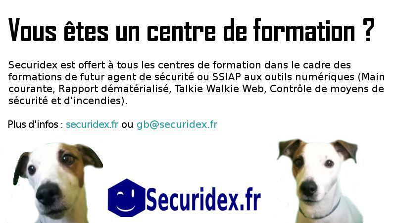 Centre de formation: une main courante électronique GRATUITE pour la formation des agents de sécurité ! (SECURIDEX)