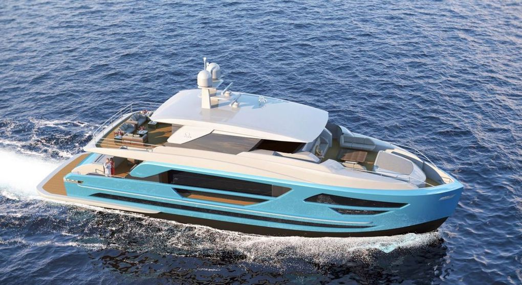The Horizon Yacht shipyard adds FD87 Skyline model to its new Fast Displacement Series