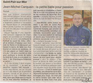 Articles de presse Jean Michel...