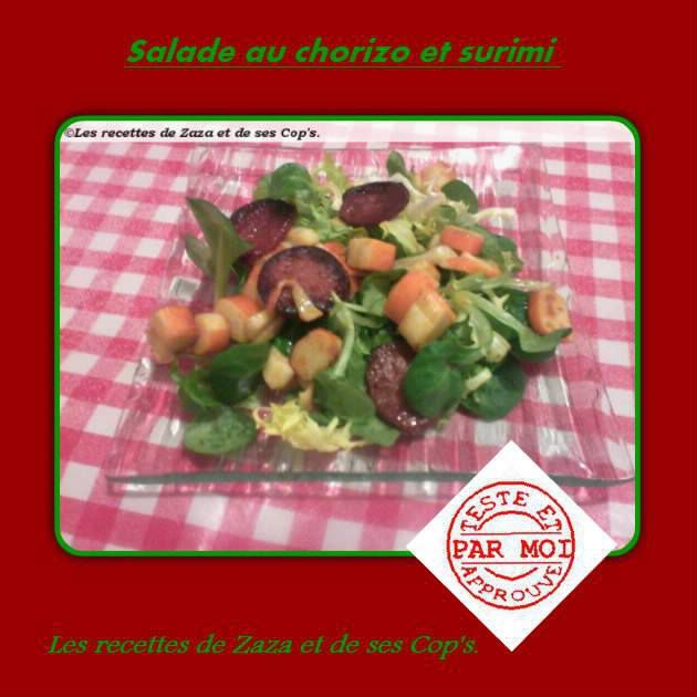 Salade chorizo et surimi