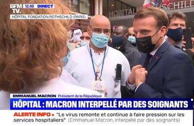 Soignants : une nouvelle sortie méprisante d'Emmanuel Macron