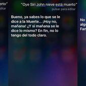 Así responde Siri cuando le preguntas si Jon Nieve ha muerto