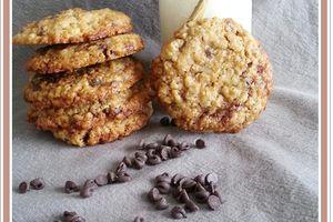 Cookies  moelleux à l'avoine et aux pépites de chocolat