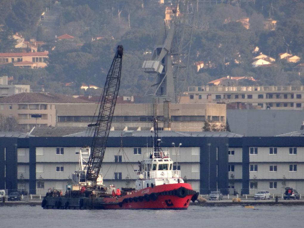 ALEOS & BARGE ENJ 24 , appareillage  de Toulon le 19 mars 2016