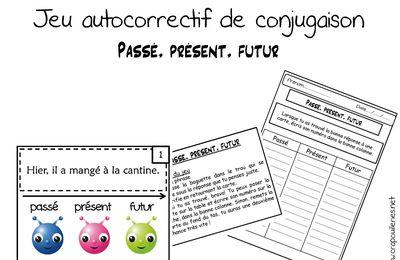 EDL CE1: jeu autocorrectif de conjugaison: passé présent, futur